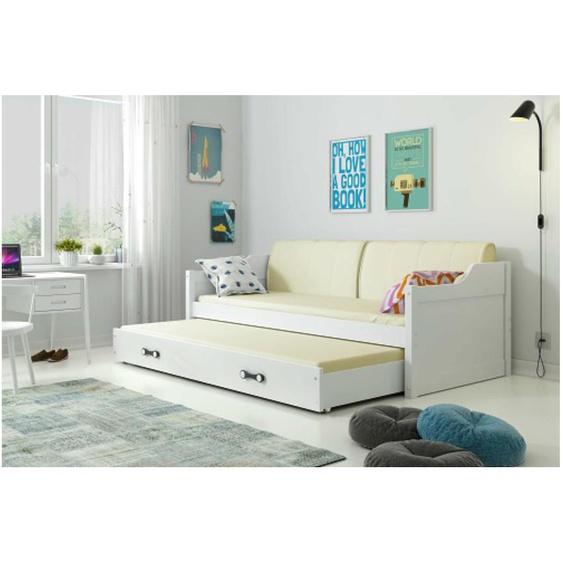 Tore Funktionsbett 80x190 cm Weiß Weiß