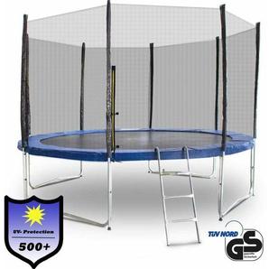 Trampolin 366 / 370 Outdoor Gartentrampolin Komplettset 3,66m 3,70m Modell 2019 mit extra verstärkten Rahmen - MS POINT