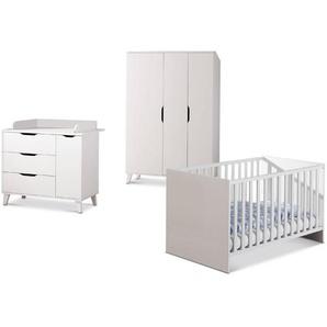 Transland Babyzimmer-Set, Weiß, Holzoptik