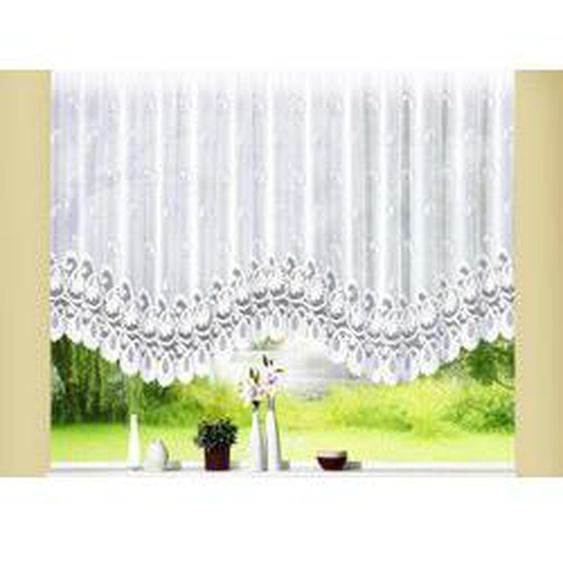 Traumhafter Bogenstore, Größe 136 (H100xB300 cm), Weiss
