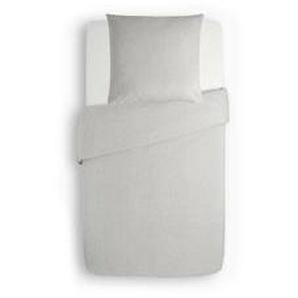 Biber Bettwäsche 155 x 200 Weiß Uni Flanell Winter Bettbezug Garnitur Bettbezüge