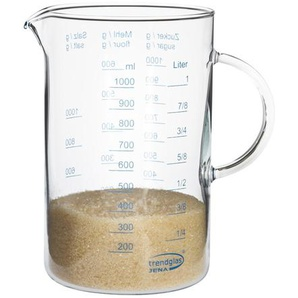 Trendglas Glas-Messbecher mit Henkel 10,7x17cm 1l