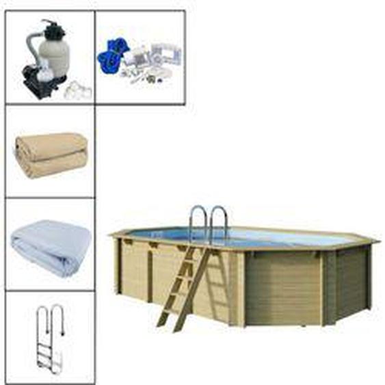 Trendline Holzpool-Set Oval 610 x 400 x 124 cm