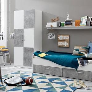 Jugendzimmer-Set , weiß, »Canaria«, FSC®-zertifiziert, trendteam