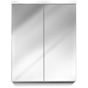 trendteam Spiegelschrank, Weiß, Glas