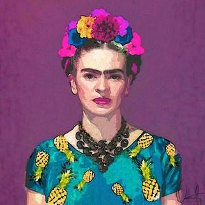 Trendy Frida Kahlo - Leinwandbild