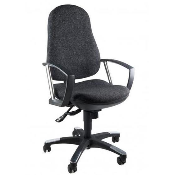 TRENDY SY - Home Office Bürostuhl Anthrazit Stoff