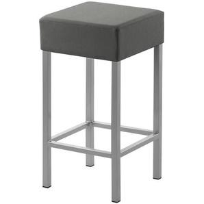Tresenhocker Metall perlsilber Kunstleder grau,  Cubus ¦ grau ¦ Maße (cm): B: 34 H: 64 T: 34 Stühle  Barhocker » Höffner