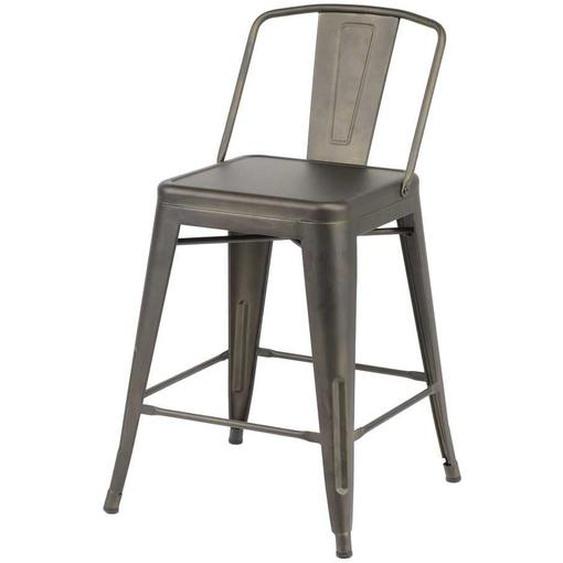 Tresenstuhl aus Metall Industriedesign (4er Set)