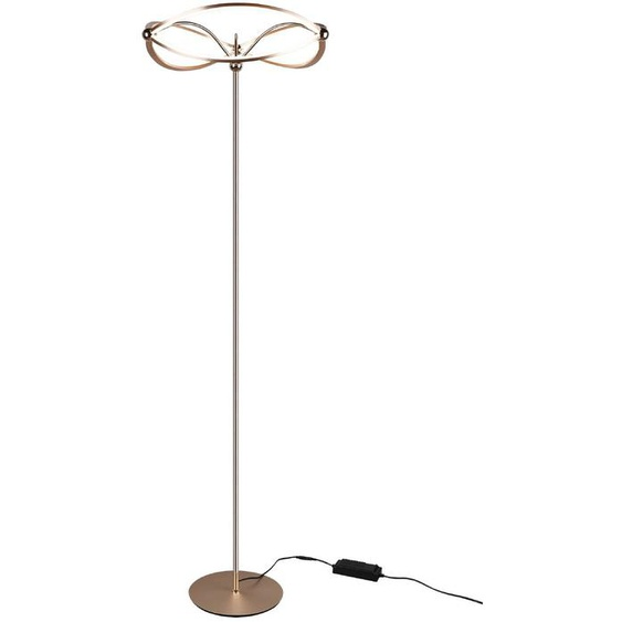 Trio LED-Stehlampe, Messing, Alu, Eisen, Stahl & Metall