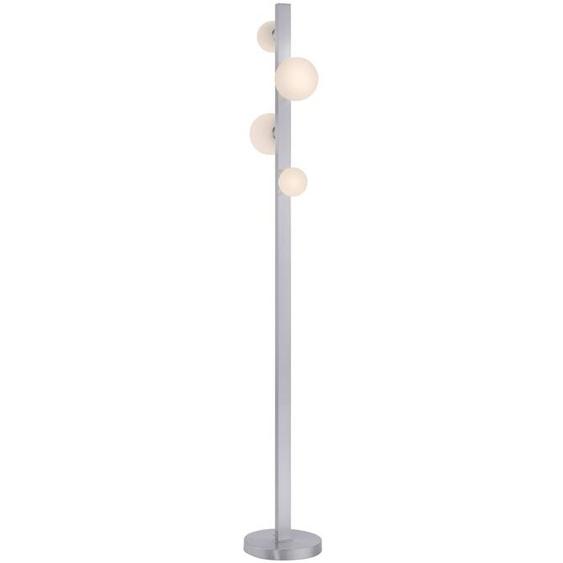 Trio LED-Stehlampe, Silber, Alu, Eisen, Stahl & Metall