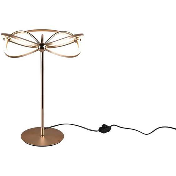 Trio LED-Tischleuchte, Messing, Alu, Eisen, Stahl & Metall
