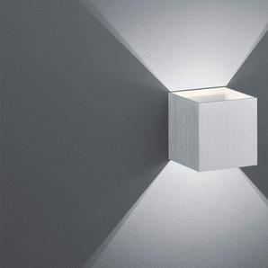 Trio LED-Wandleuchte, ´Kubus`alufarben ¦ silber
