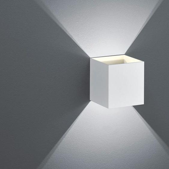 Trio LED-Wandleuchte, ´Kubus` weiß matt ¦ weiß