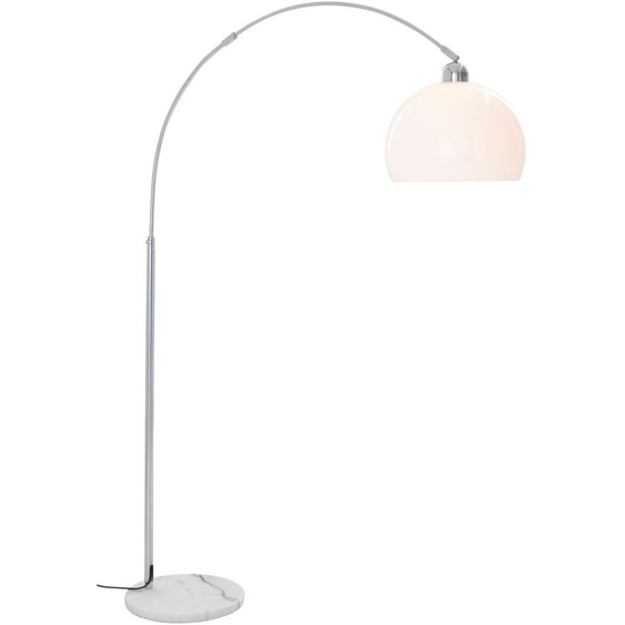 TRIO Leuchten Bogenlampe, E27 1 flg., Ø 30 cm Höhe: 210 weiß Bogenlampen Stehleuchten Lampen Bogenlampe