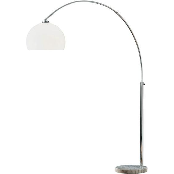 TRIO Leuchten Bogenlampe, E27 1 flg., Ø 35 cm Höhe: 215 weiß Bogenlampen Stehleuchten Lampen Bogenlampe