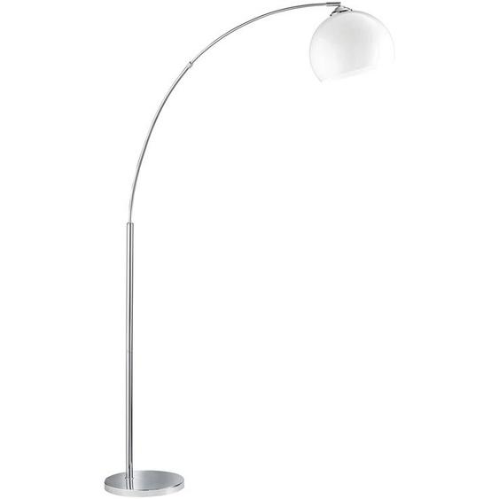 TRIO Leuchten Bogenlampe WATTO, E27 1 flg., Ø 25 cm Höhe: 180 silberfarben Bogenlampen Stehleuchten Lampen