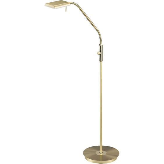 TRIO Leuchten,LED Stehlampe BERGAMO 1 -flg. /, H:135 cm goldfarben LED Stehlampen LED-Lampen und LED-Leuchten Lampen Leuchten