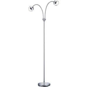 Trio Leuchten LED-Stehleuchte, Schirm Kunststoff, chromfarbig 428210206