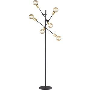 TRIO Leuchten Stehlampe »Cross«, Fussschalter,schwenkbar, Leuchtmittel tauschbar