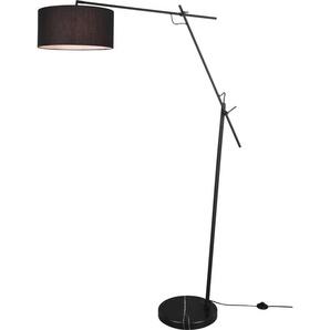 TRIO Leuchten Stehlampe PONTE, Stehleuchte mit Fußschalter, E27, 1 St., Höhe 168cm, schwenkbar; E27 Leuchtmittel frei wählbar flg., Ø 40 cm Höhe: 168 cm, schwarz matt Bogenlampen Stehleuchten Lampen