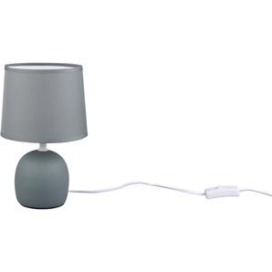 TRIO Leuchten Tischleuchte »MALU, Keramik Tischlampe mit Stoffschirm«, E14-Leuchtmittel frei wählbar, Höhe 26cm, Ø 16cm, mit Schnurschalter