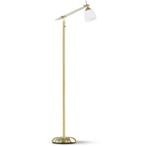 Trio Stehlampe, Messing, Messing, (Blatt-)Gold