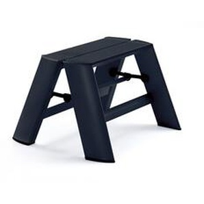 Tritthocker Lucano Thomas Merlo schwarz, Designer Chiaki Murata, 28x39x15.5/57 cm