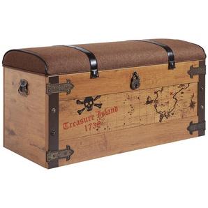 Truhe  Black Pirate ¦ braun ¦ Maße (cm): B: 92,2 H: 45,5 T: 49,8 Aufbewahrung  Truhen & Kisten - Höffner
