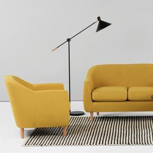 Tubby 2-Sitzer Sofa, Retrogelb