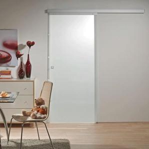 Tür Schiebetür Glas satiniert 880 x 2035 Zimmertür Glasschiebetür Glastür - Quadratgriff - inova Star