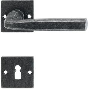 Halcö Türbeschlag Hall | Türgriff für Innentür auf Rosette BB | schwarz passiviert