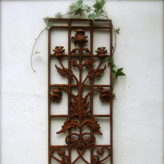 Türgitter mit Glockenblume, sehr schönes Gitter für Haustür, Jugendstil-Art Deco