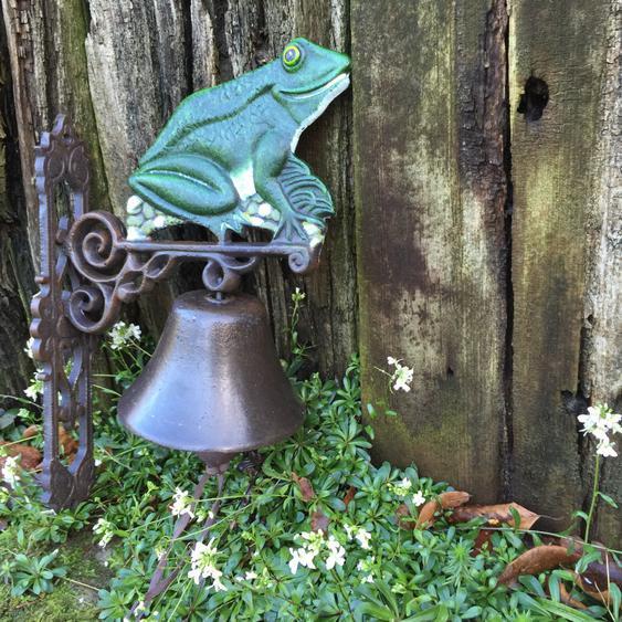 Türglocke mit Frosch, Gartenhaus Glocke, Tür Glocke Haustür Dekoration Vintage