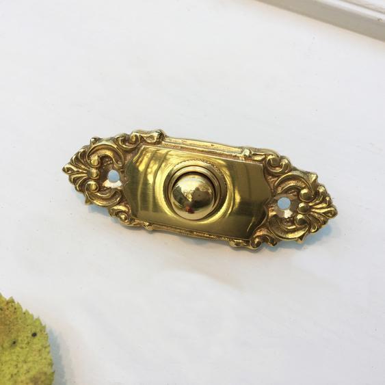 Türklingel Barock fein nach antikem Original gefertigte Messing Schelle Klingel