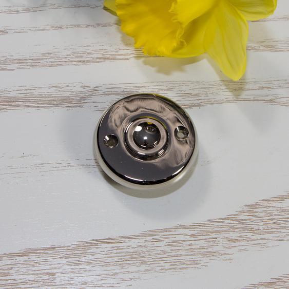 Türklingel Nickel rund, Klingelknopf für moderne Haustüren Klingel Taster