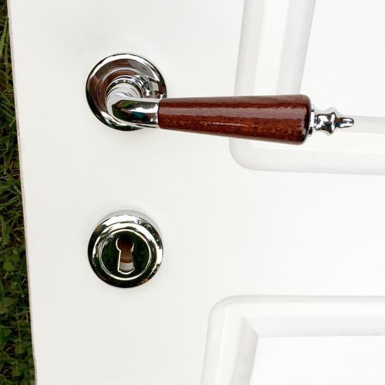 Türklinken Garnitur Chrom - Design Rosetten Garnituren - Türbeschläge verchromt