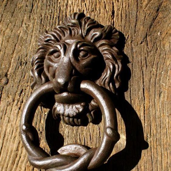 Türklopfer * Flämischer Löwe * für die Haustür, Klopfer wie antik