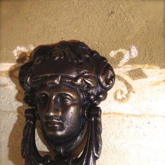 Türklopfer französisch -Madeleine- Klopfer für Haustür, in Bronze Antik Finish