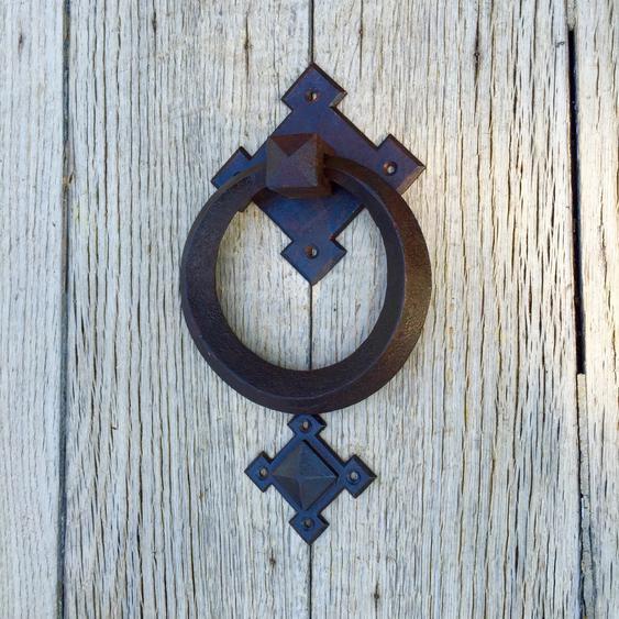 Türklopfer kunsthandwerklich, Klopfer Haustür, Tür-Klopfer, Glocke Eingangstür