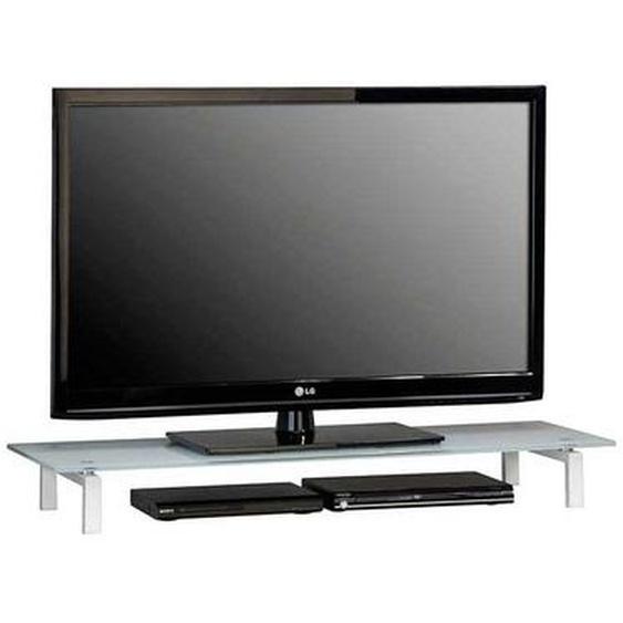 TV Aufsatz in Weiß mit Glasplatte