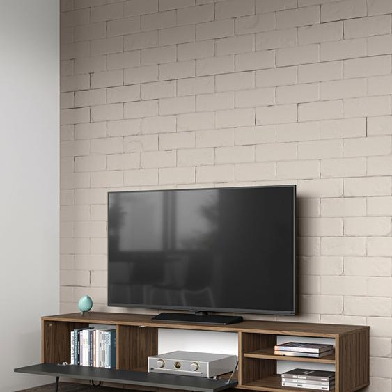 TV-Board »AERO«, 165x43.5x40 cm (BxHxT), TemaHome, beige, Material Holz, Spanplatte, Melamin, Metall