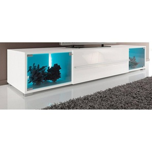 TV-Lowboard, mit 2 Vitrinenfächern, Breite 141 cm oder 161 cm