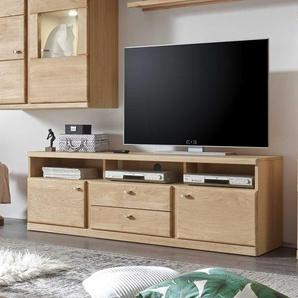 TV Board aus Wildeiche Bianco ge�lt 170 cm