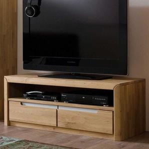 TV Board aus Wildeiche Bianco ge�lt und gewachst