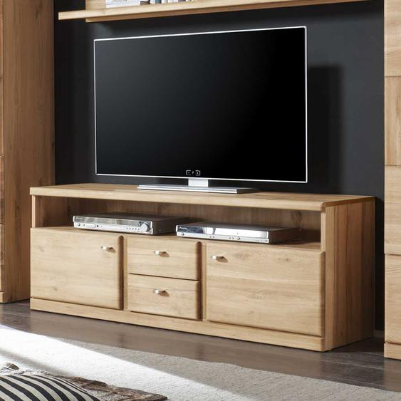 TV Board aus Wildeiche Schubladen