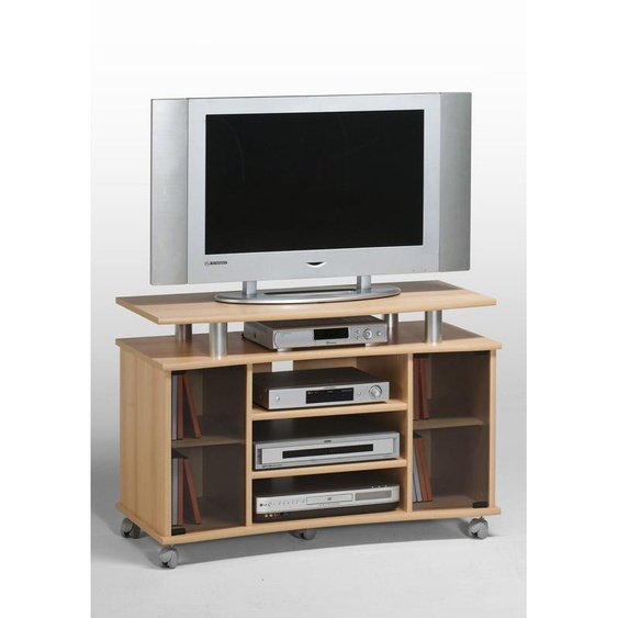 TV-Board, MAJA Möbel, braun, Material Melaminharzbeschichtung, Aluminium, strapazierfähig