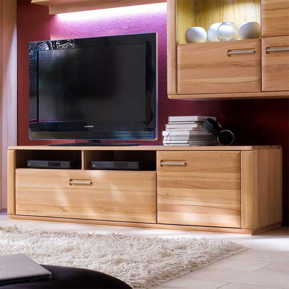 TV Element aus Kernbuche Massivholz 180 cm breit