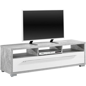 : TV-Element, Grau, Weiß, B/H/T 141 42 40