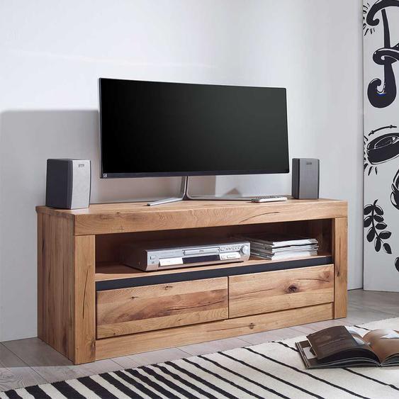 TV Lowboard aus Wildeiche Massivholz Zerreiche Massivholz